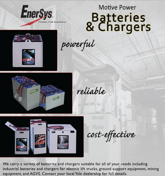 EnerSys Motive Power Batteries and Chargers